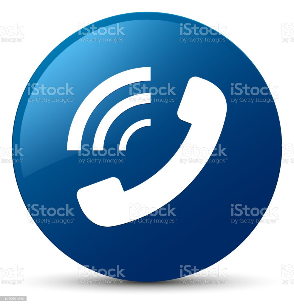 Phone Ringing Icon Blue Round Button Stock Illustration