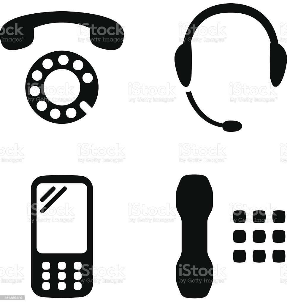 Phone set vector art illustration