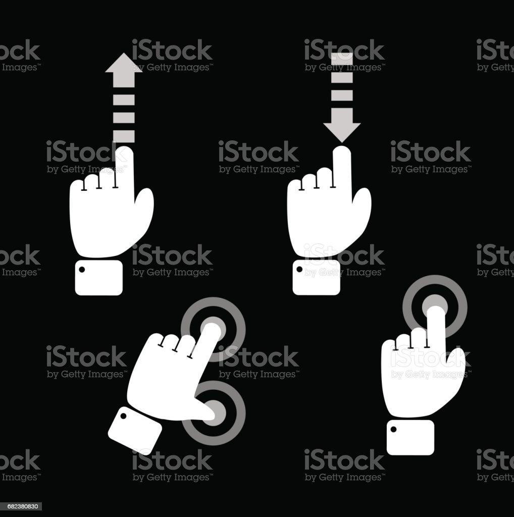 Phone touch gestures royalty-free phone touch gestures stock vector art & more images of business