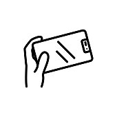 phone touch panel icon vector. phone touch panel sign. isolated contour symbol illustration