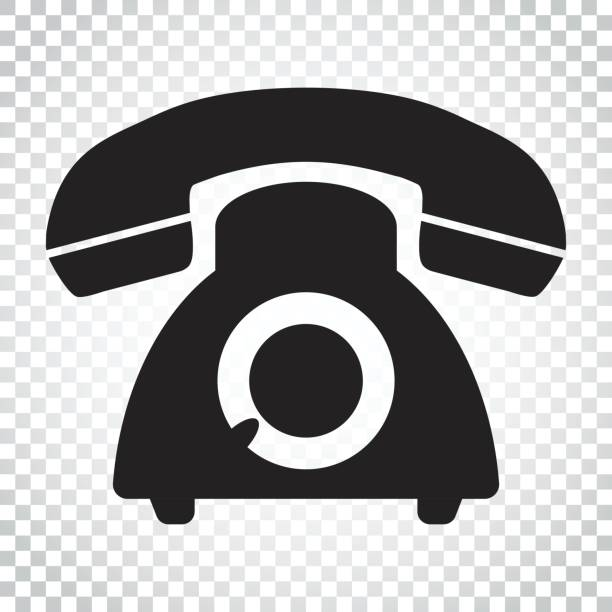 Phone vector icon. Old vintage telephone symbol illustration. Simple business concept pictogram on isolated background. vector art illustration