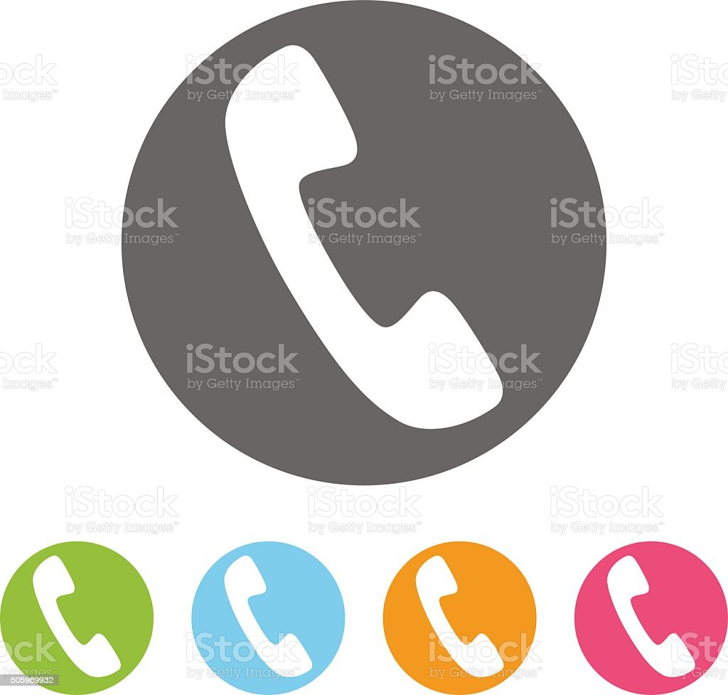 Phone vector icons vector art illustration