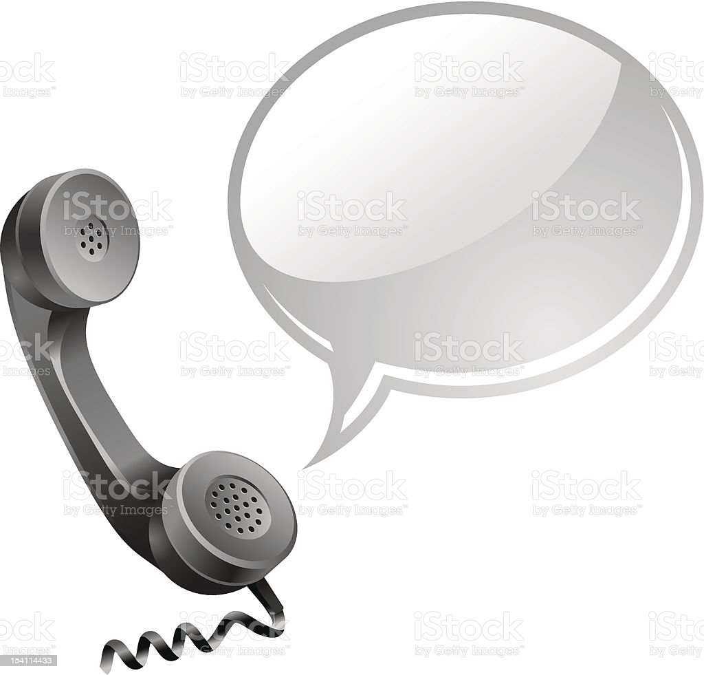 phone with speech bubble royalty-free stock vector art