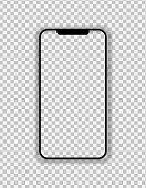 istock Phone with thin black frame. Vector illustration 1282539864