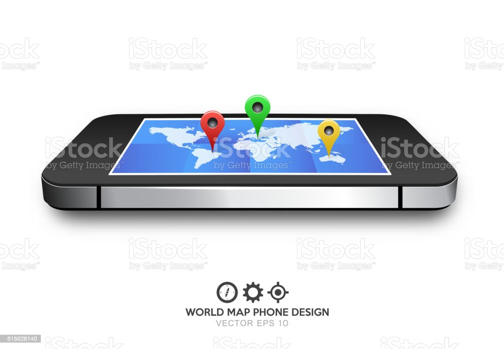 Phone world map gps vector stock vector art more images of arrival phone world map gps vector royalty free phone world map gps vector stock vector art gumiabroncs Image collections
