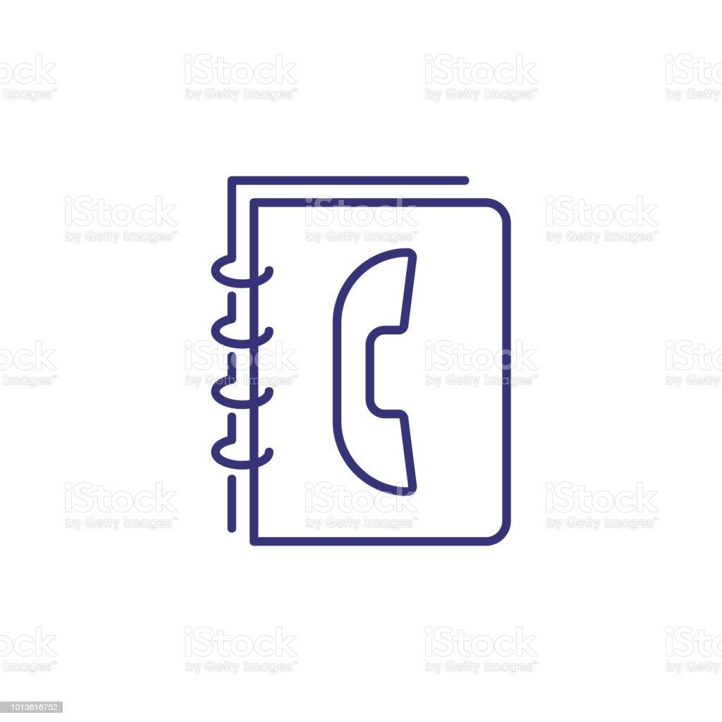 04b3a88ced5 Icono de línea de guía telefónica ilustración de icono de línea de guía  telefónica y más