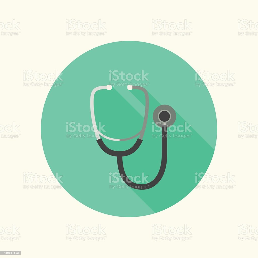 Phonendoscope icon vector art illustration