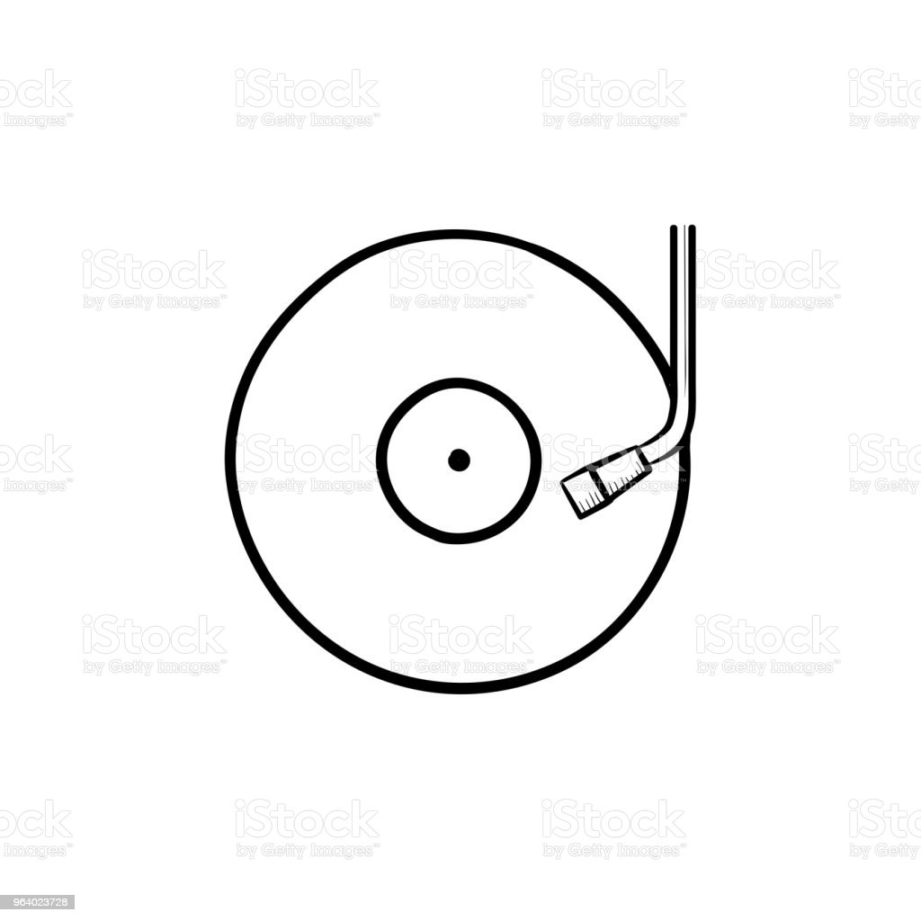 Phonograph and turntable hand drawn outline doodle icon - Royalty-free Acoustic Guitar stock vector