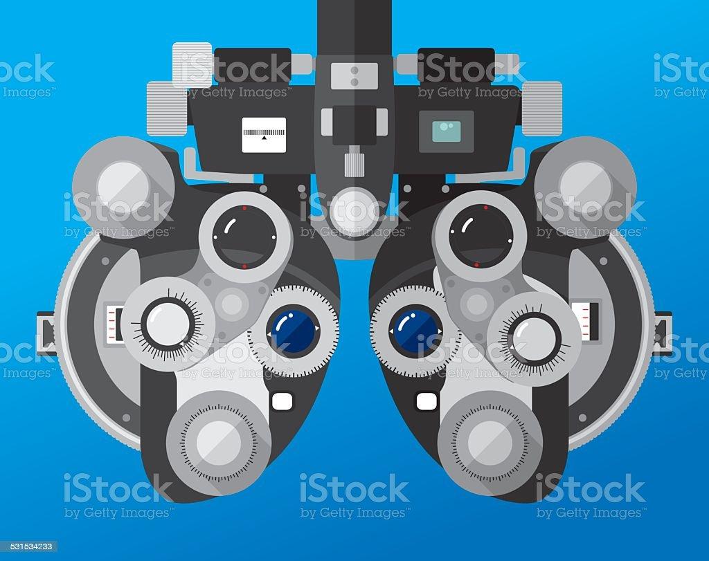 Phoropter Eye Exam Maschine – Vektorgrafik