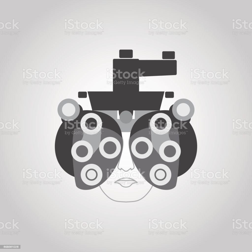 Phoropter vector logo vector art illustration