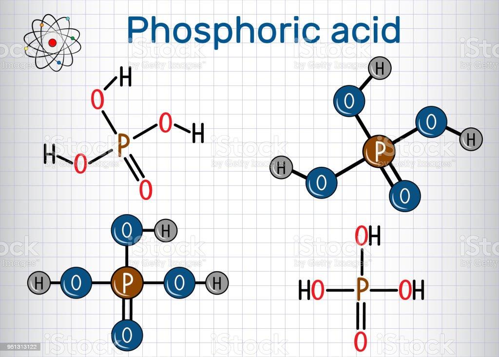 Phosphoric Acid Is A Mineral And Weak Acid Molecule Structural