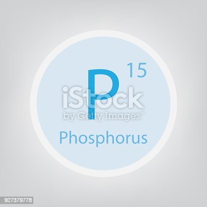 Phosphorus P Chemical Element Icon Stock Vector Art More Images Of