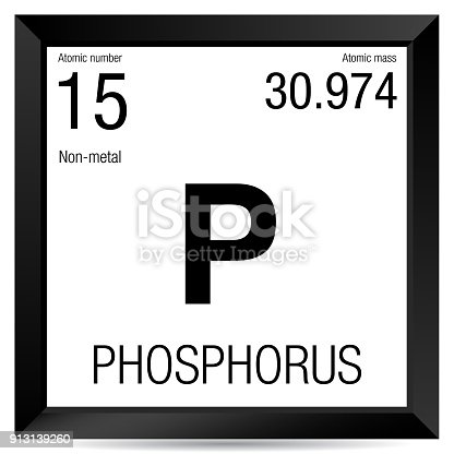 Phosphorus Symbol Element Number 15 Of The Periodic Table Of The