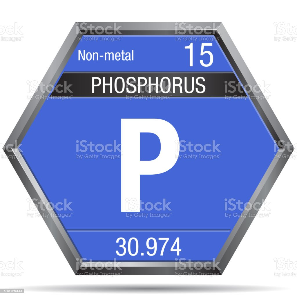 Phosphorus symbol in the form of a hexagon with a metallic frame phosphorus symbol in the form of a hexagon with a metallic frame element number 15 urtaz Images