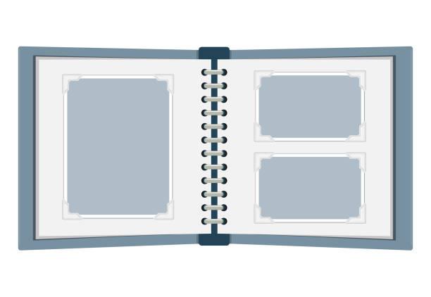 photo album Flat Design blank photo album Icon photo album stock illustrations