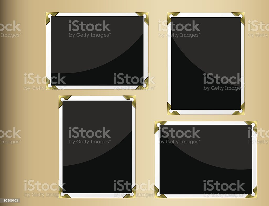 Photo album page royalty-free stock vector art