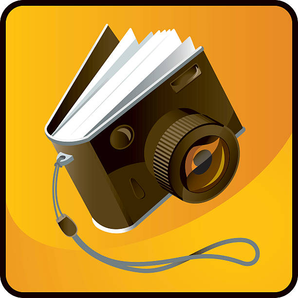 photo fotoalbum - mittelformatkamera stock-grafiken, -clipart, -cartoons und -symbole