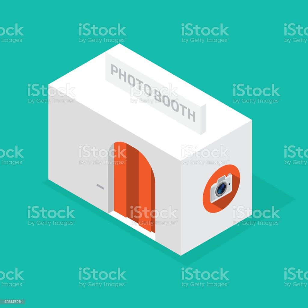 photo booth isometric vector art illustration