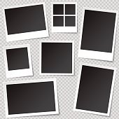 Photo booth Photo Frame templates with transparent shadow.