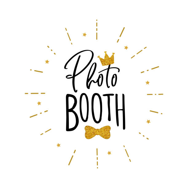 photo booth props sign. - photo booth stock illustrations, clip art, cartoons, & icons