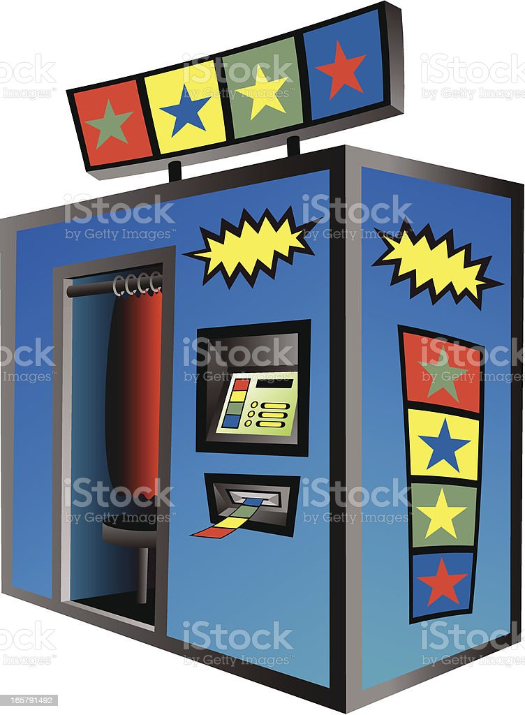 Photo Booth vector art illustration