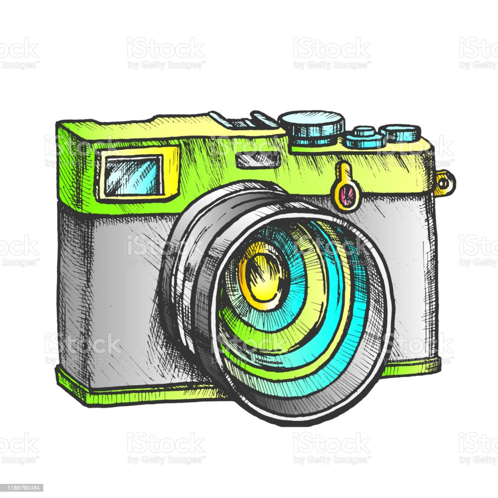 Photo Camera Digital Gadget Color Vector Stock Illustration Download Image Now Istock