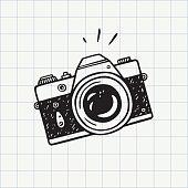 istock Photo camera doodle icon 1180394598