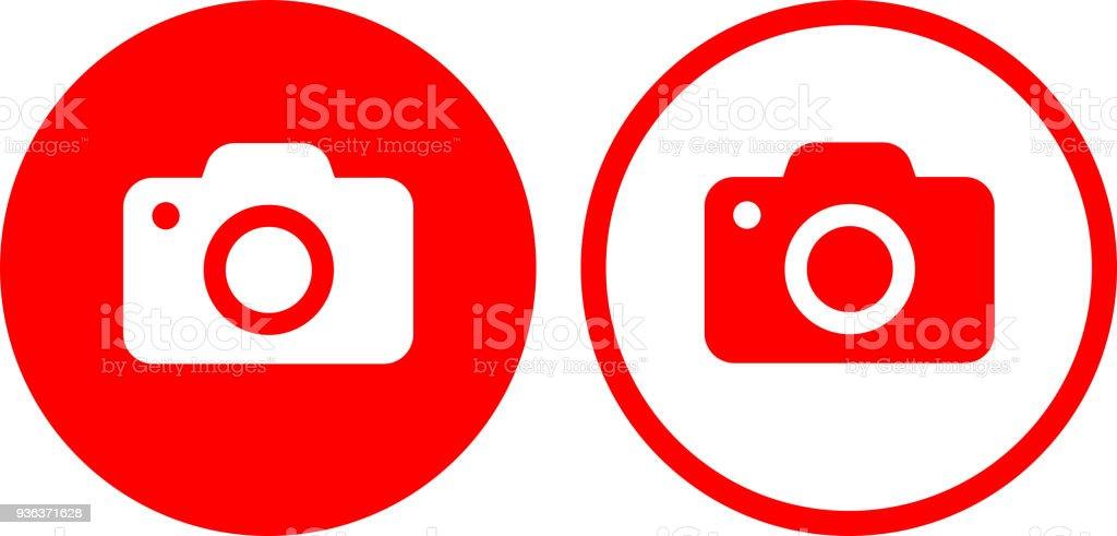 Photo Camera Icon vector art illustration