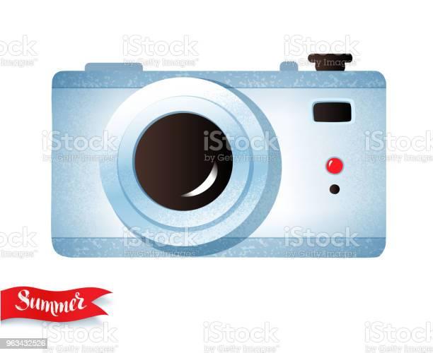 Aparat Fotograficzny Izolowany Na Białym Tle - Stockowe grafiki wektorowe i więcej obrazów Akcesorium osobiste