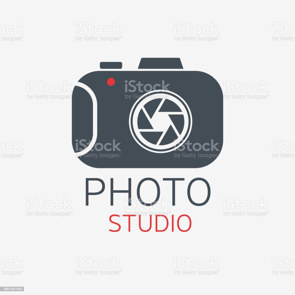 Fotokamera Foto Studio Concept Vector Art Vorlage Stock Vektor Art ...