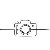 istock Photo camera vector icon with hand drawn doodle style isolated on white 1198347486