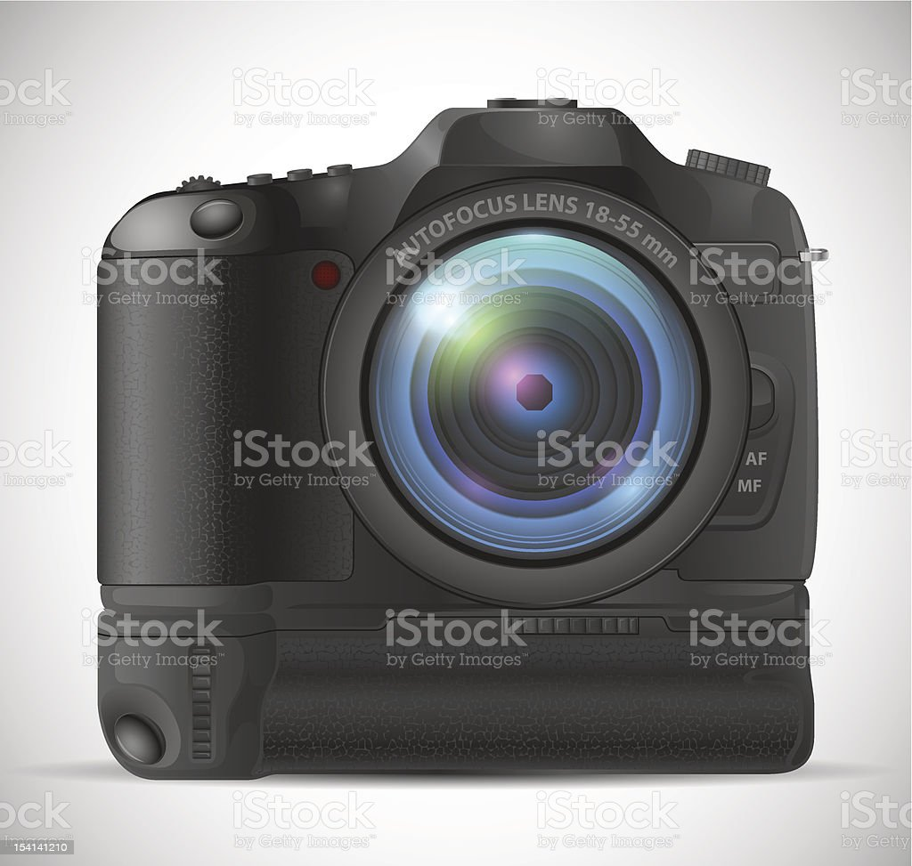 photo camera vector art illustration