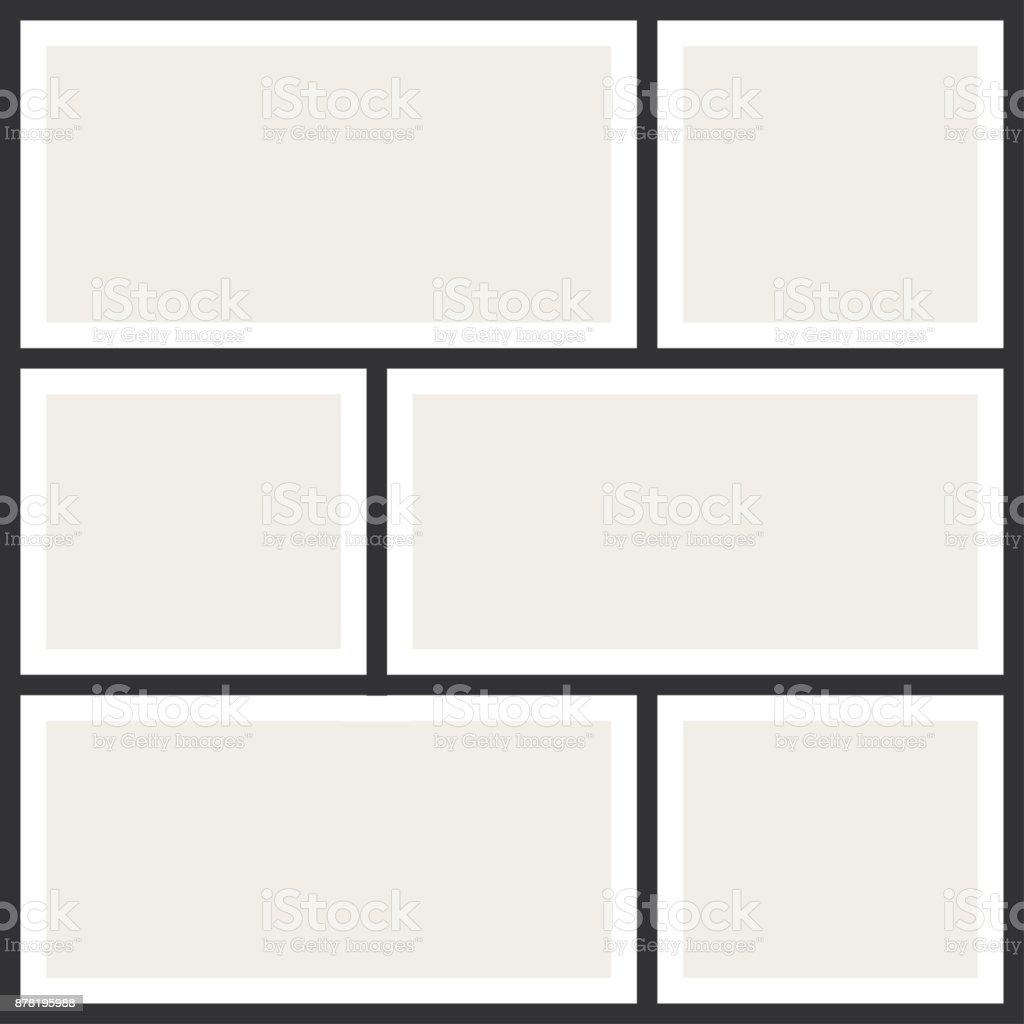 Marcos De Foto Collage Álbum De Fotos Vintage Plantilla De ...