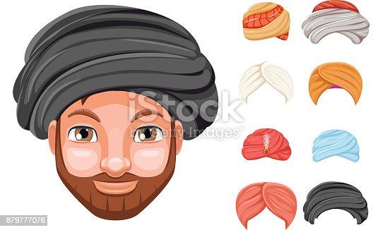 Foto Dekoration Turban Mode Kopfschmuck Arabische Indische