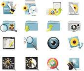 Photo editing icons