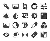 Photo Editor Icons Vector EPS File.