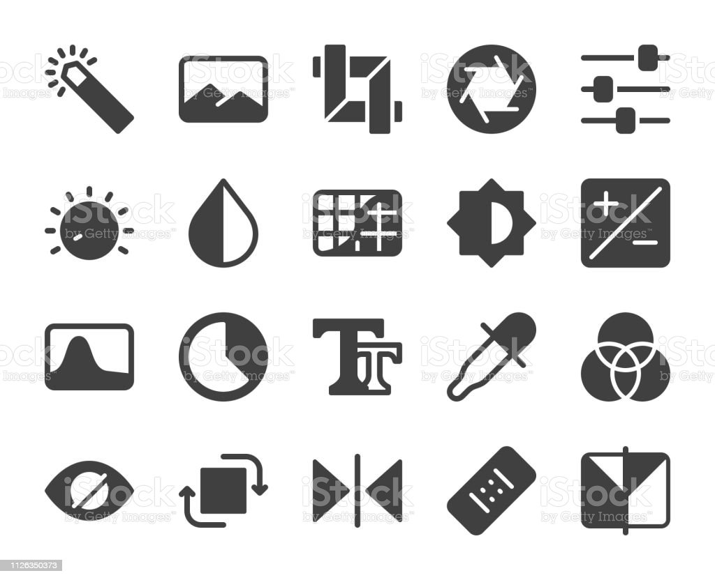 Photo Editor - Icons vector art illustration