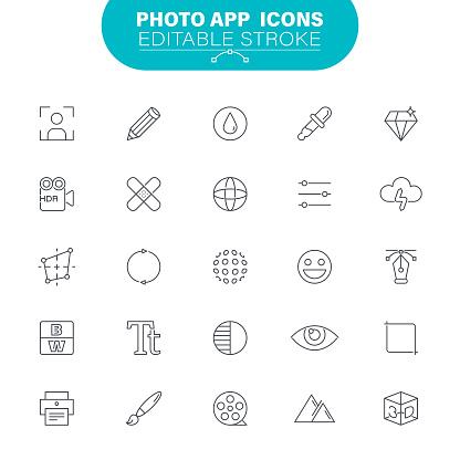 Photo Editor Icons