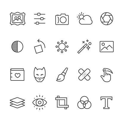 Photo Editor vector icons