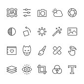 Photo Editor vector icons