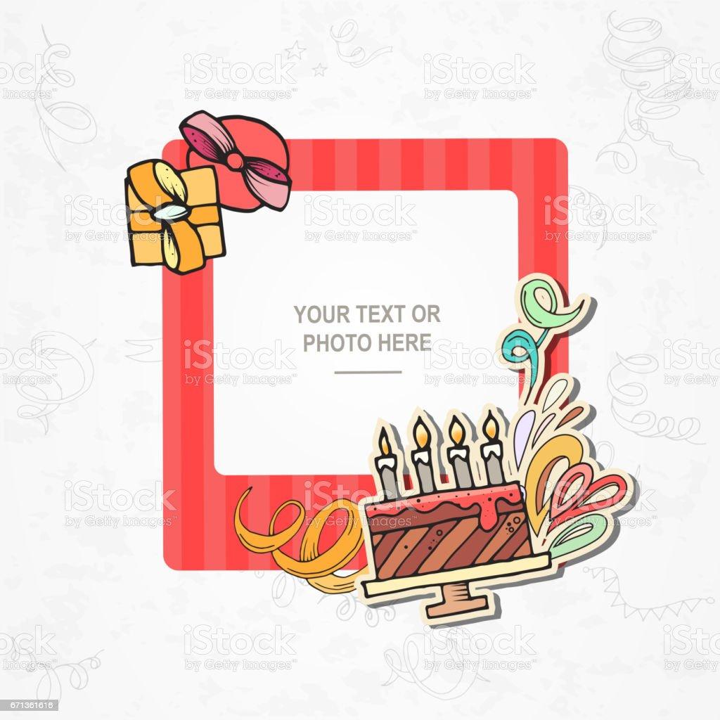 Foto Rahmen Geburtstag Stock Vektor Art Und Mehr Bilder Von 2 3