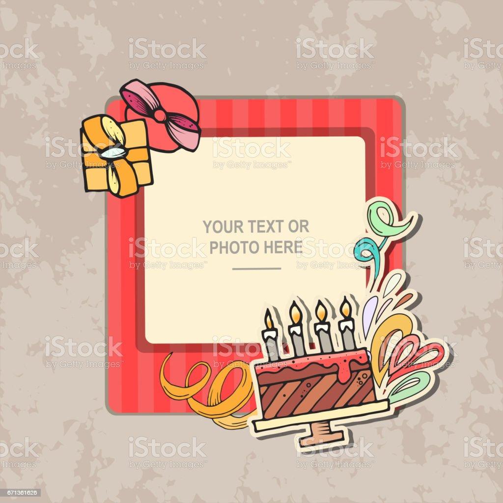 Foto Rahmen Geburtstag Stock Vektor Art und mehr Bilder von 4-5 ...