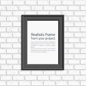 Photo frame brick wall.