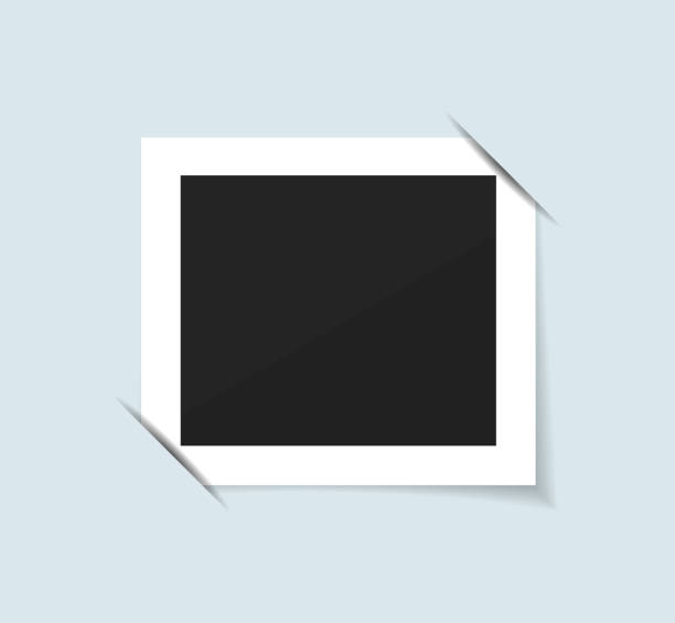 Photo frame collection realistic vector Blank photo frame isolated. Realistic Vector illustration. polaroid frame stock illustrations