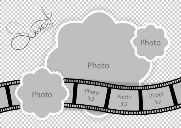 かわいい赤ちゃんと家族のアルバムのフォト フレーム - 出産点のイラスト素材/クリップアート素材/マンガ素材/アイコン素材