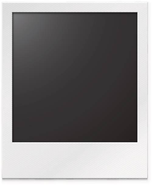 stockillustraties, clipart, cartoons en iconen met fotolijstjes op een witte achtergrond met een realistische textuur van papier en schaduw. - polaroid