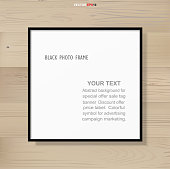 istock Photo frame or picture frame on wooden background. 1341032923