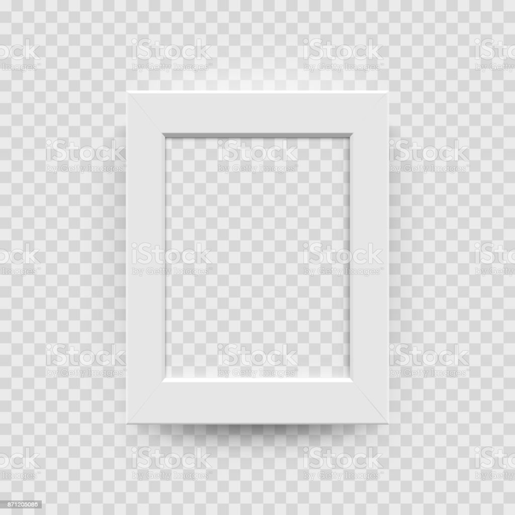 Photo Frame Picture Photoframe White 3d Vector Isolated Square Model ...