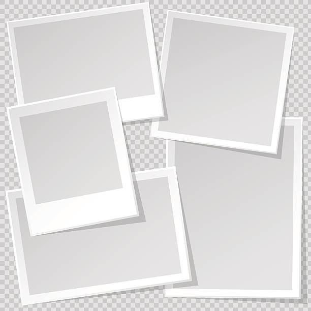 bilderrahmen-vorlage mit scharfen transparente schatten. - bildformate stock-grafiken, -clipart, -cartoons und -symbole