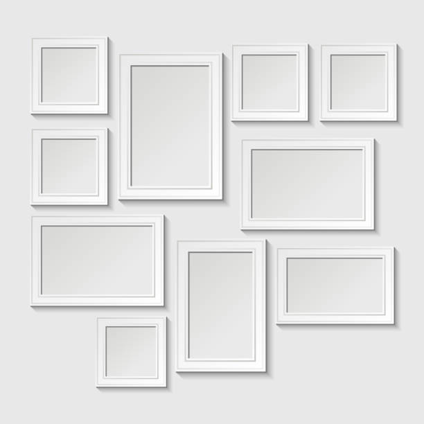 Royalty Free Picture Frame On Wall Clip Art, Vector Images ...